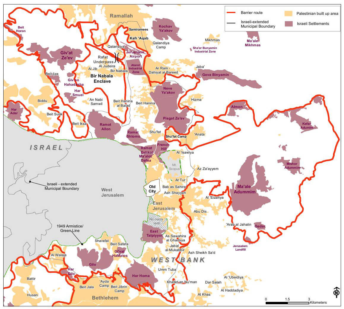 East Jerusalem map 2007 - Israel's settlements: 50 years of land theft explained